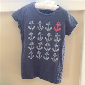  Mini Boden Anchor T-Shirt Size 4-5